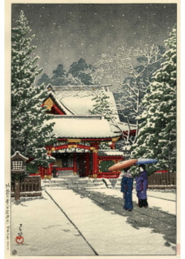 H-73 社頭の雪(日枝神社)
