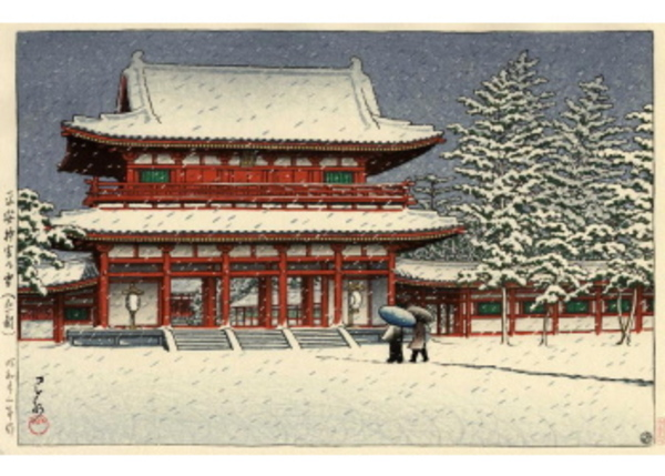 H-82 平安神宮の雪(京都)