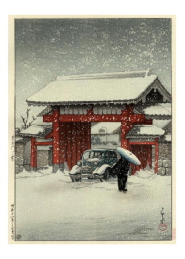 H-84 芝大門の雪