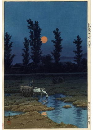 H-49 札幌中之島の夕月