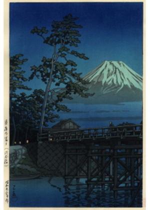 H-53 月夜の富士(河合橋)