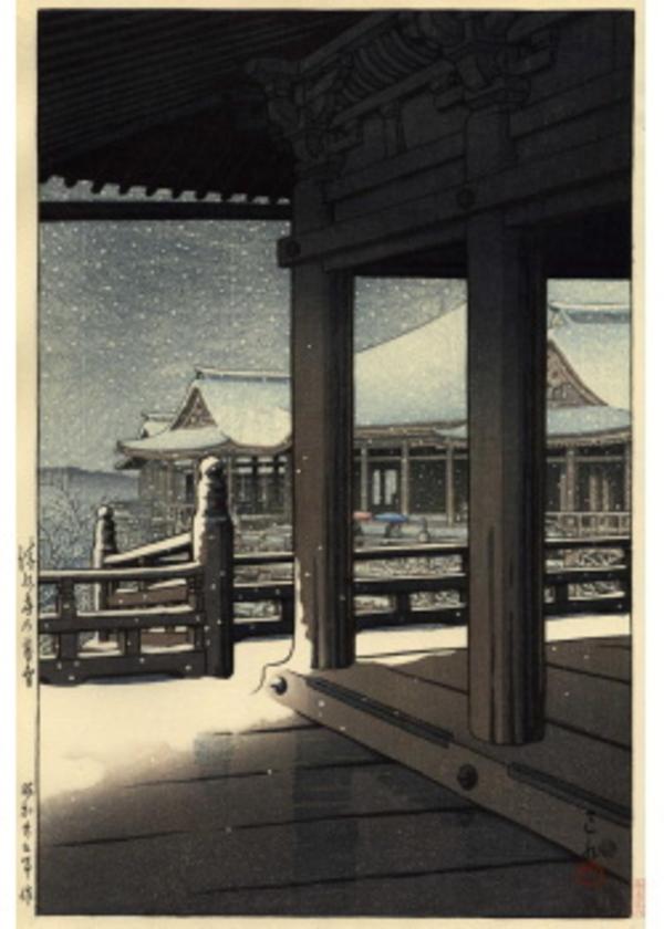 H-27 清水寺の暮雪