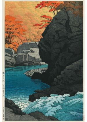 H-31 塩原の秋(天狗岩の下)