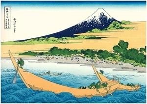 UF08 冨嶽三十六景 「東海道江尻・田子の浦略図」