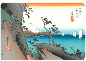 浮世絵復刻版 間判サイズ(20×30㎝) UFI-01 広重 東海道53次 「由井」