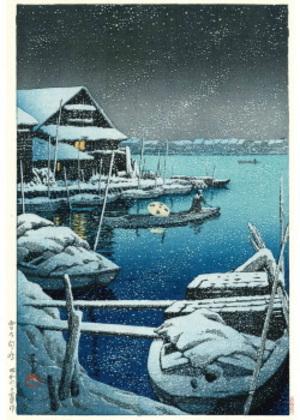 H-04 雪の向島