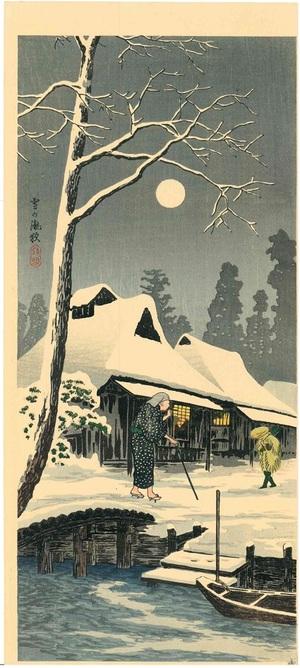 高橋松亭(弘明) 雪の朧夜(三切判)