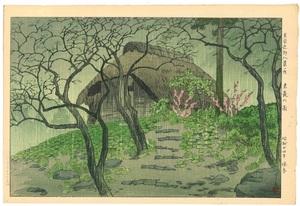 笠松紫浪 東京近郊八景の内 末長の雨