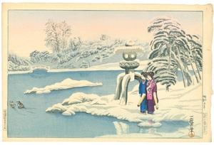 織田一磨 庭の雪景