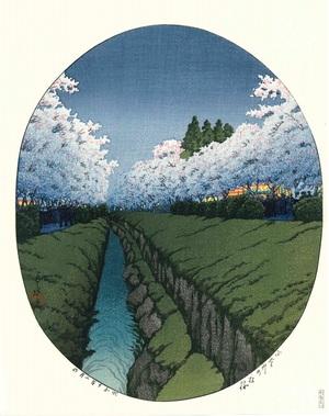 ありがとうございました。川瀬巴水H80「小金井の夜桜」(後摺木版画)